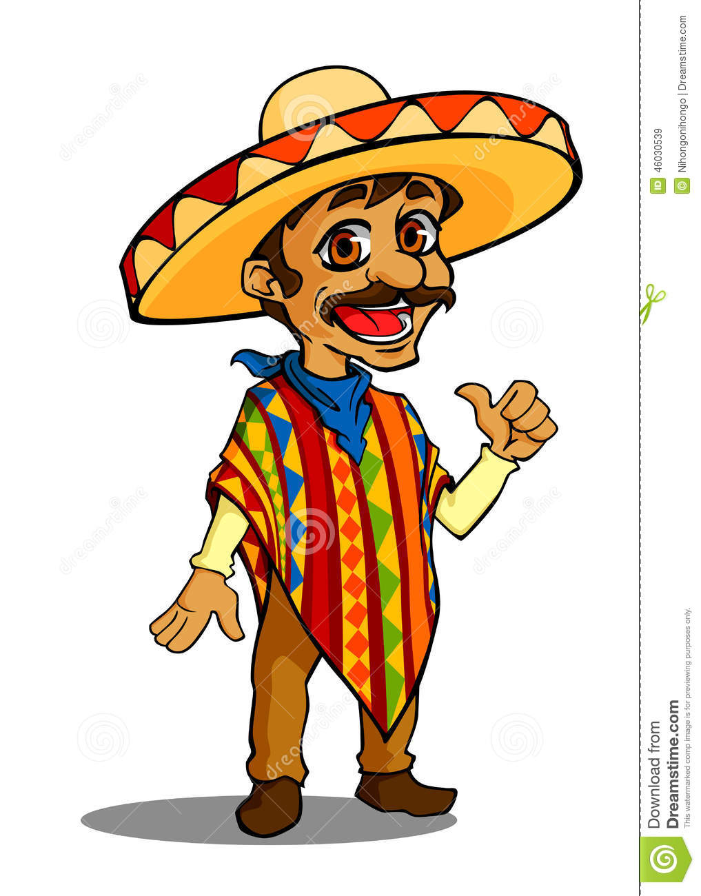 Cartoon Characters Mexican : Mexican man stock vector image