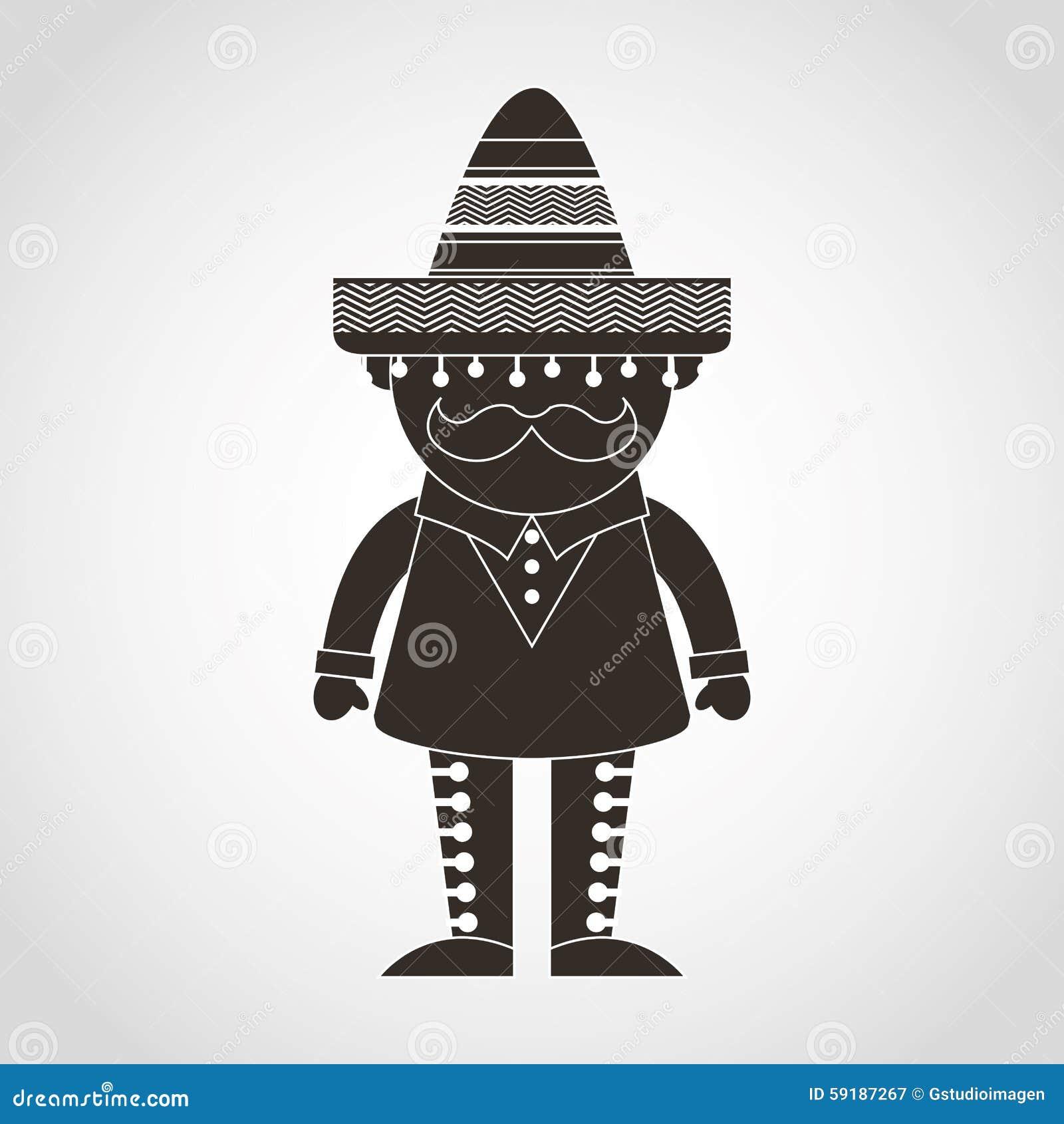 Mexican Man Stock Vector - Image: 59187267