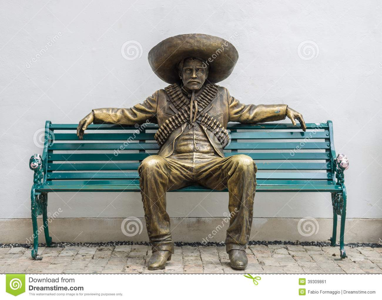 Mexican Man Statue Stock Photo Image 39309861