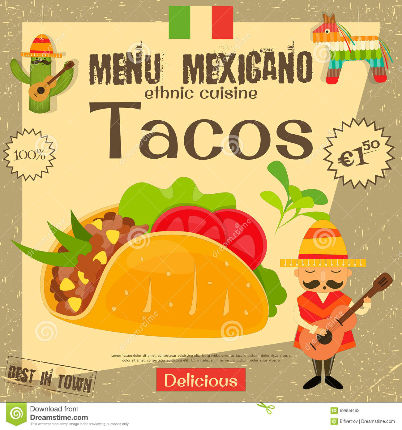 Tacos Mexican Fast Food Menu