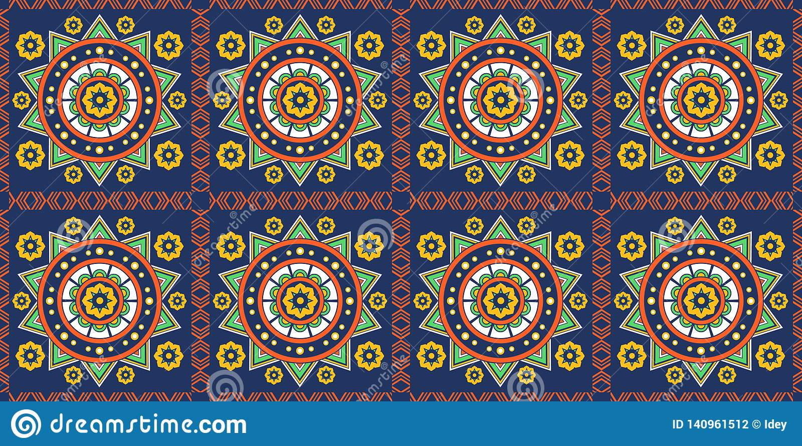 Mexican Ornament, Seamless Background, Pattern, Colorful