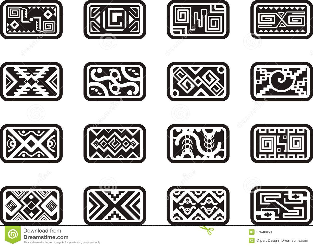 Decorative frames set download free vector art stock graphics - Mexican Ornamental Designs Royalty Free Stock Images