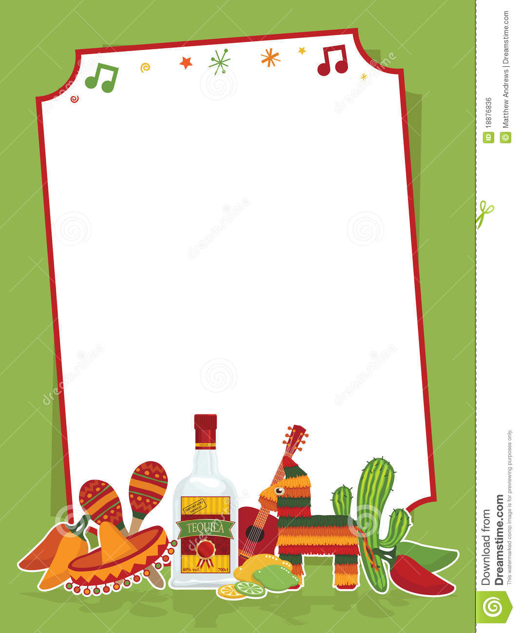 Mexican party sign stock vector illustration of fiesta for Mexican themed powerpoint template