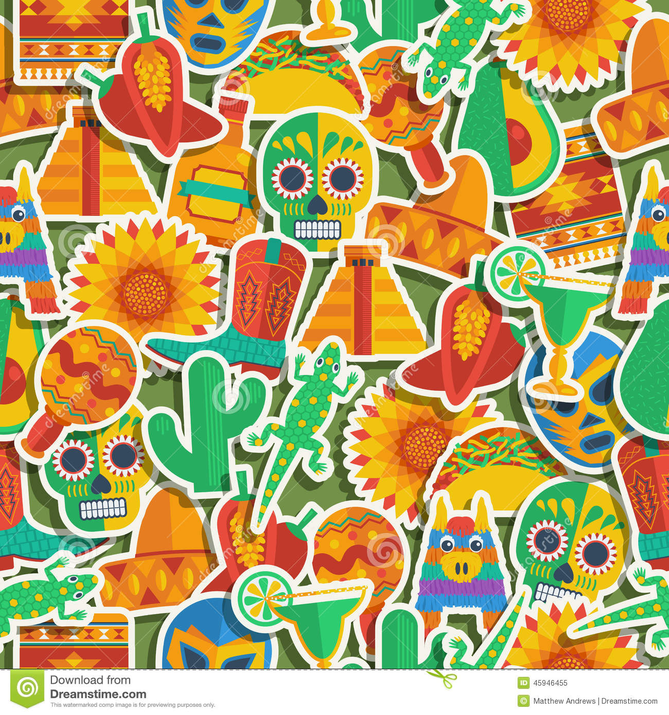 mexican pattern stock vector image 45946455