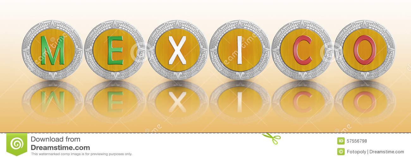 Mexican Peso Stock Illustration Illustration Of Economy 57556798
