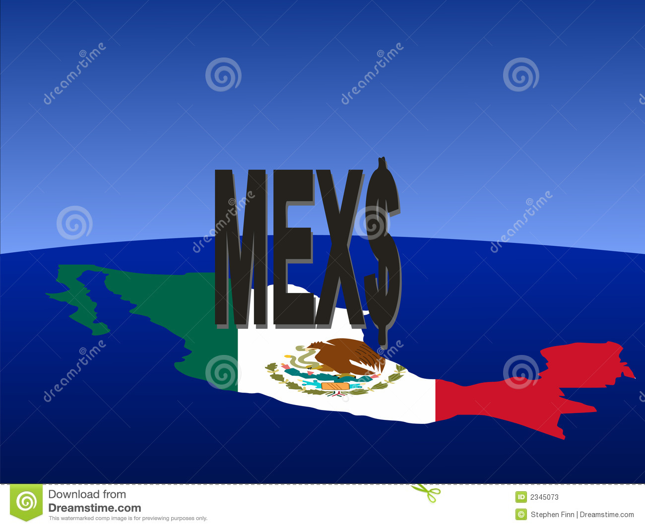 Mexican peso stock illustrations 124 mexican peso stock mexican peso sign with map giant mexican peso sign with map and flag of mexico biocorpaavc