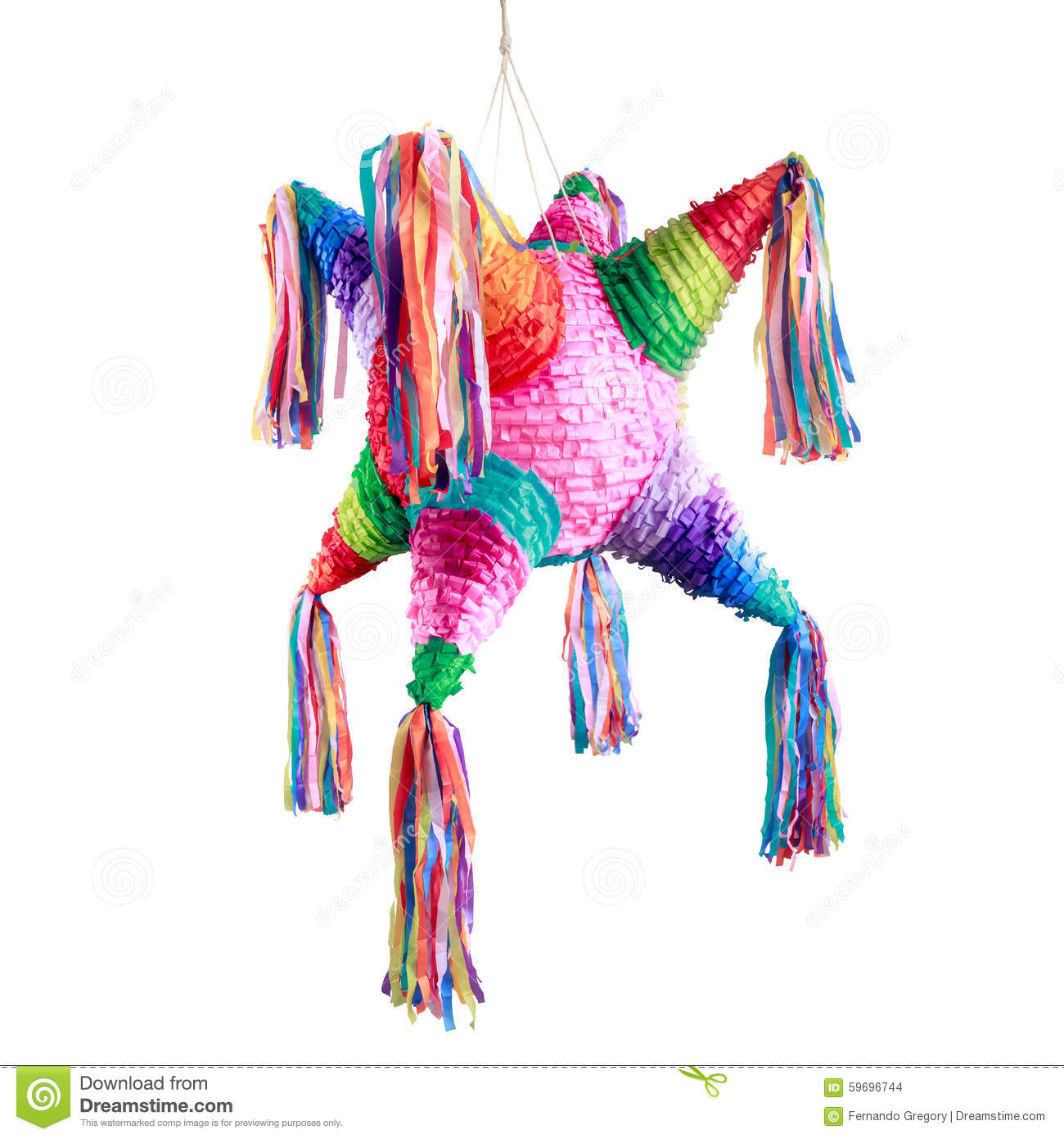 mexican pinata used in posadas and birthdays stock photo image