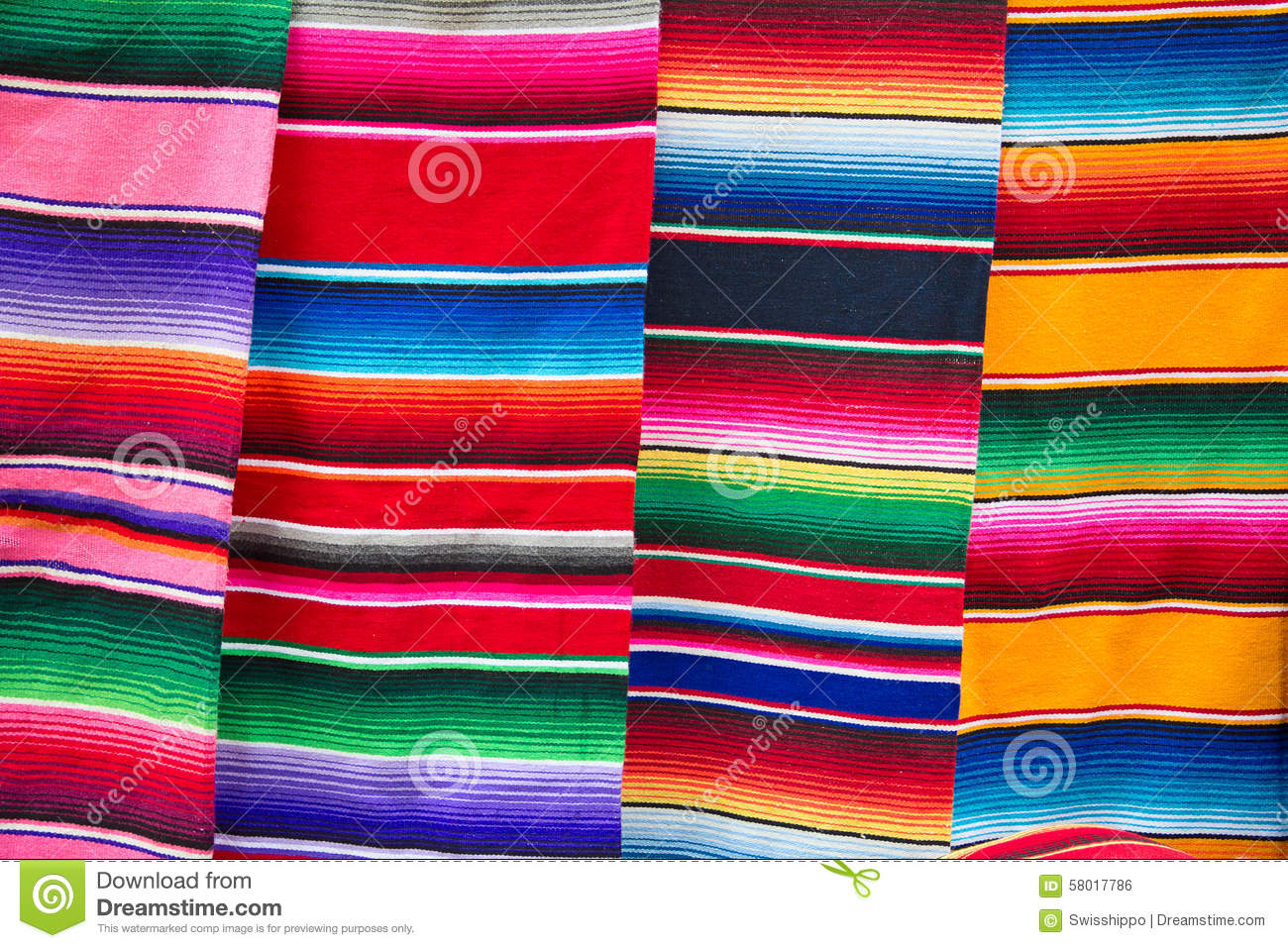 Mexican ponchos stock photo  Image of fabric, america - 58017786