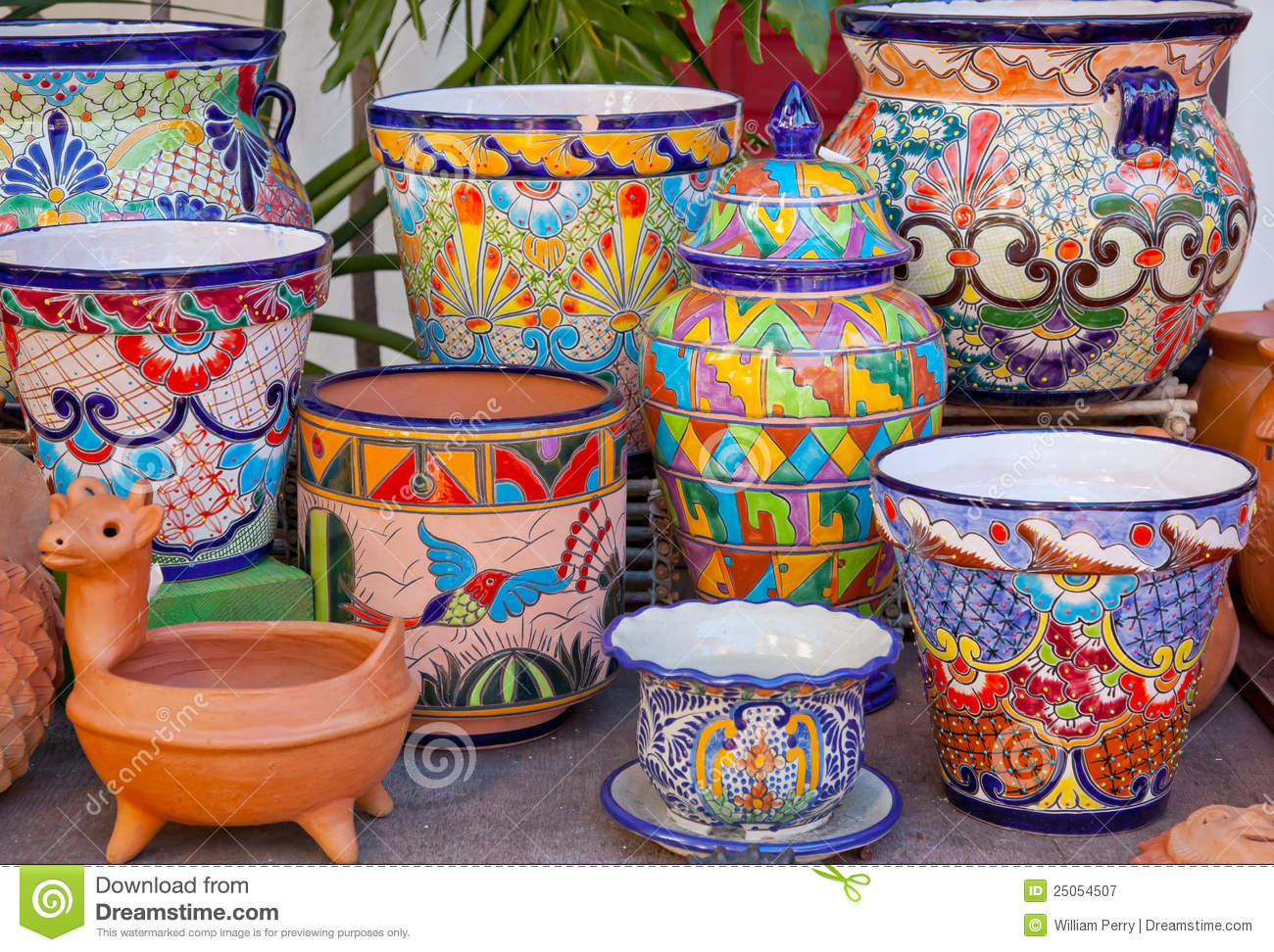 Mexican Pots Old San Diego California Stock Image Image