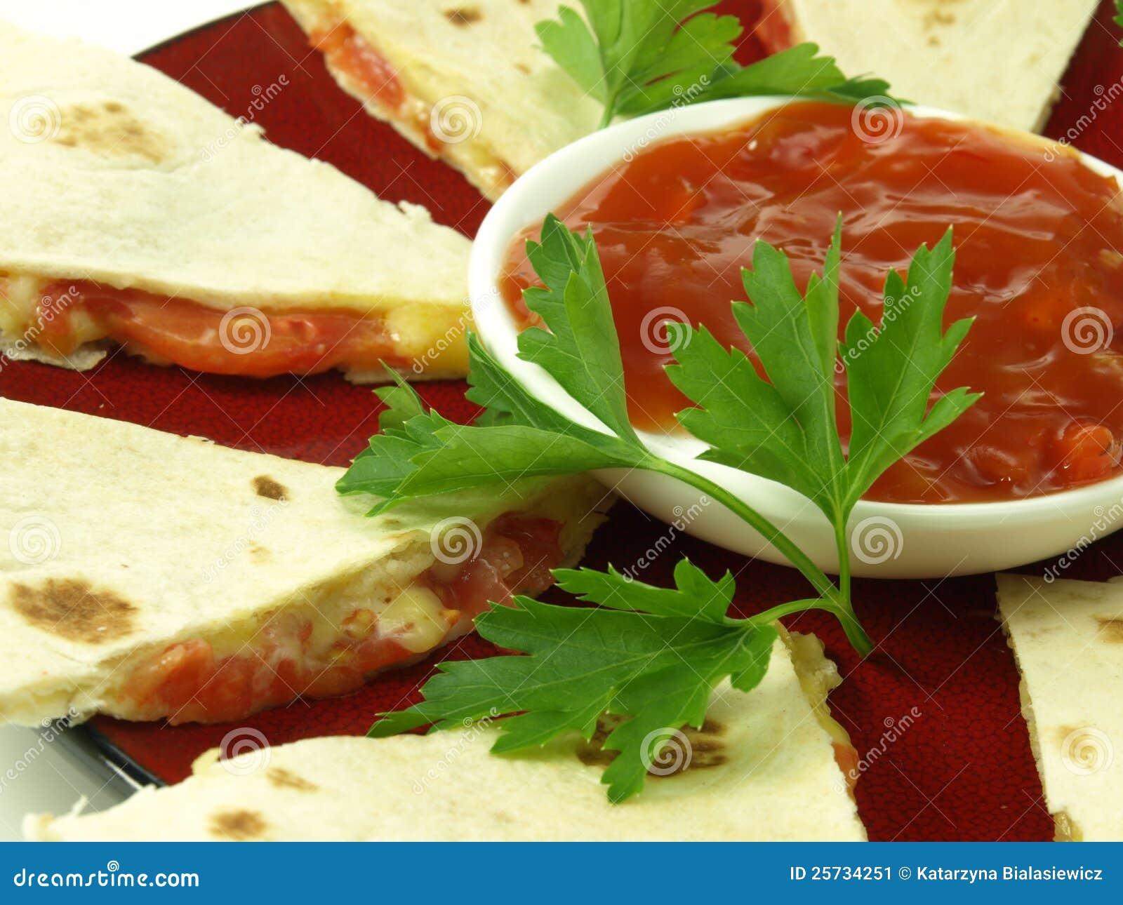 Mexican quesadilla, closeup