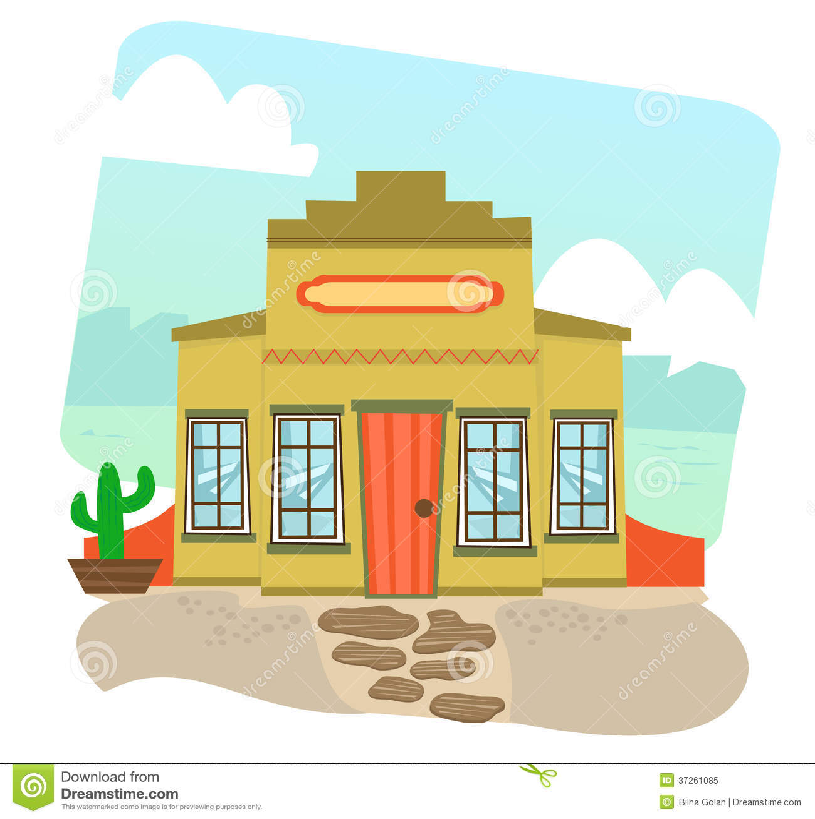 Building cartoon clipart restaurant building and restaurant building - Royalty Free Stock Photo Download Mexican Restaurant