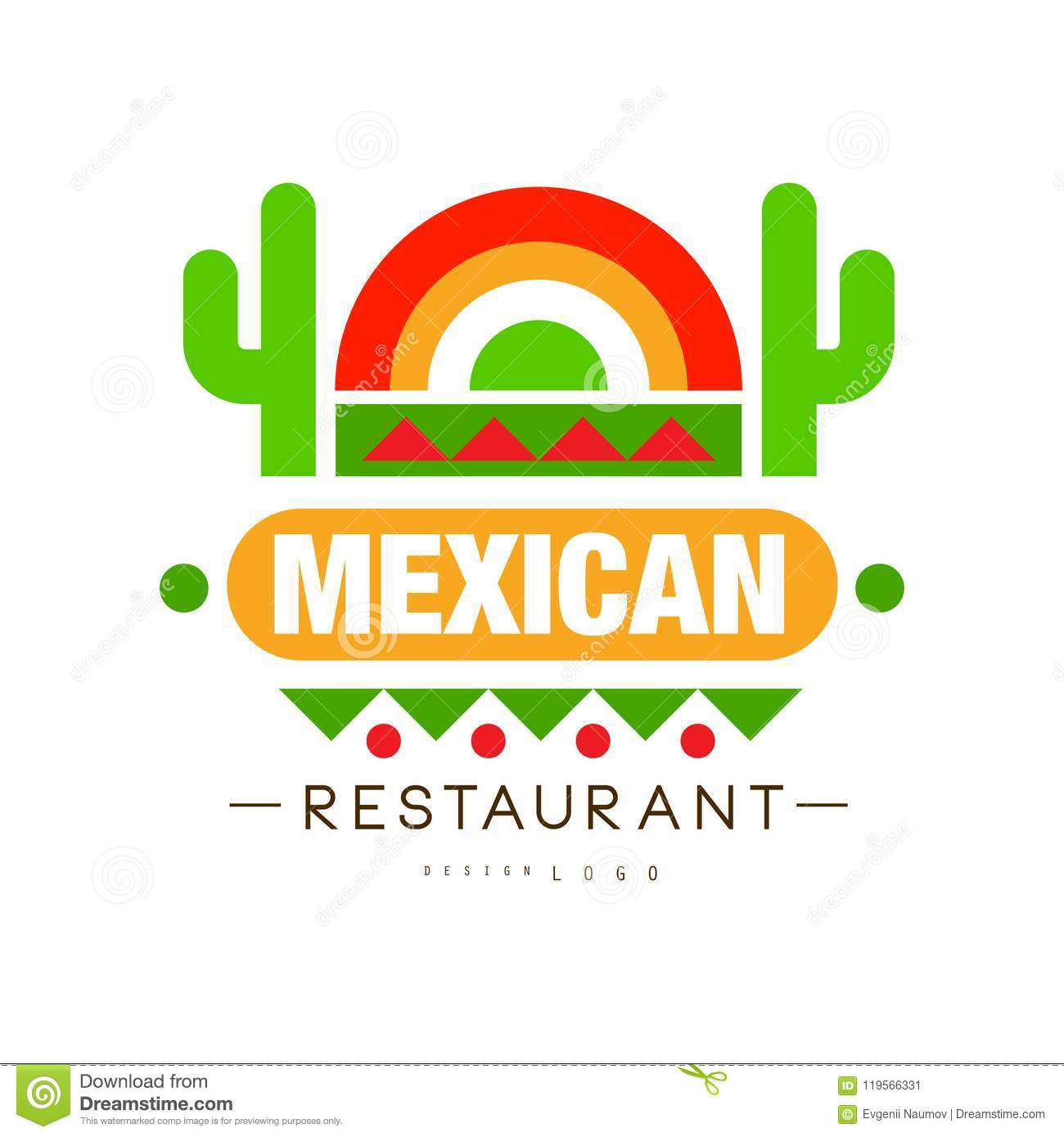 Mexican Restaurant Logo Design Authentic Traditional Continental