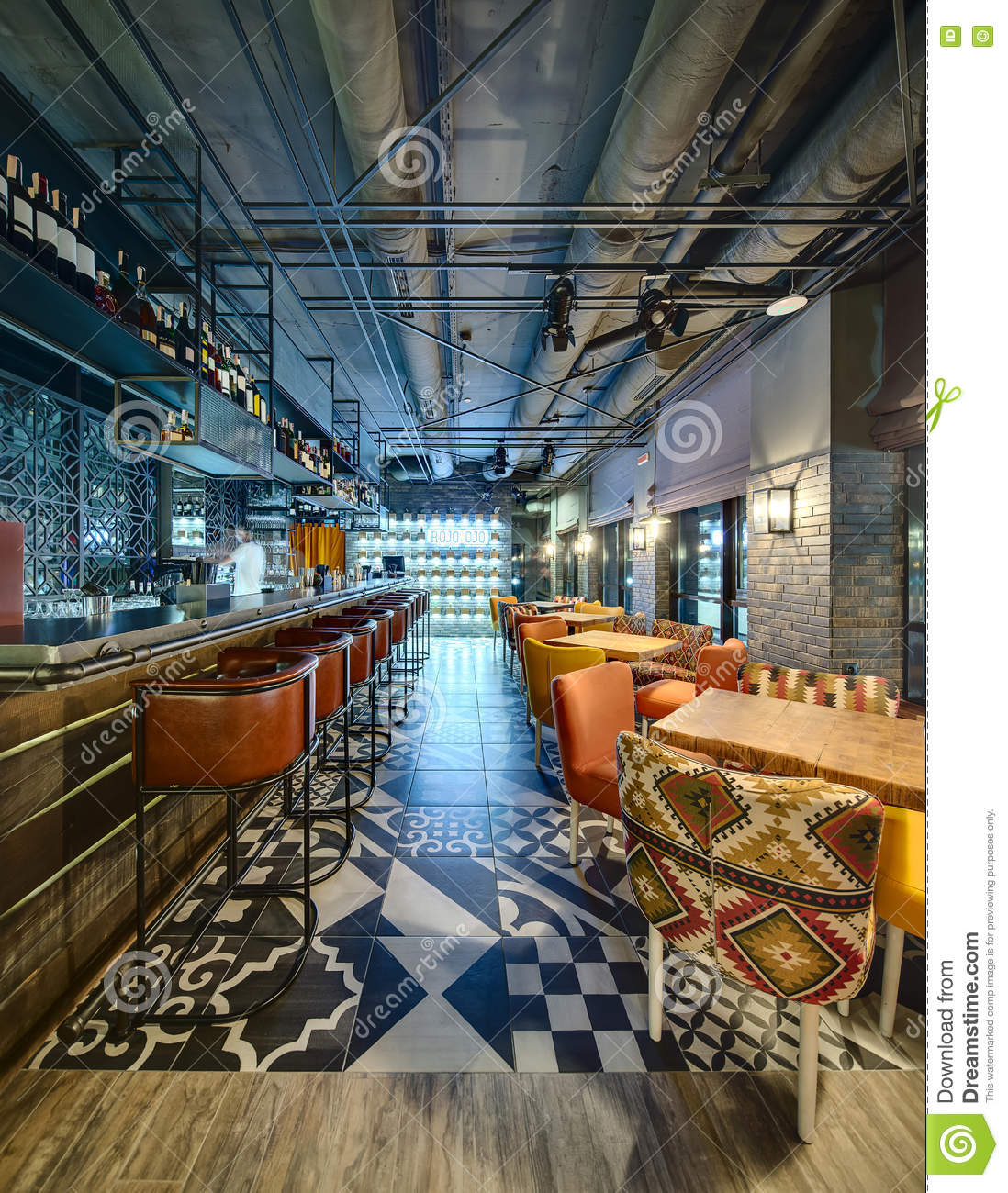 Mexican Restaurant S Bar Editorial Photo Image Of Glowing 72331911