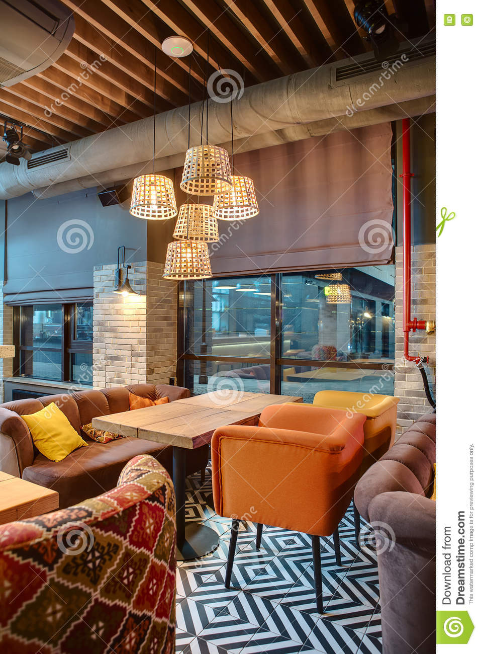 Mexican Restaurant S Interior Stock Image Image Of
