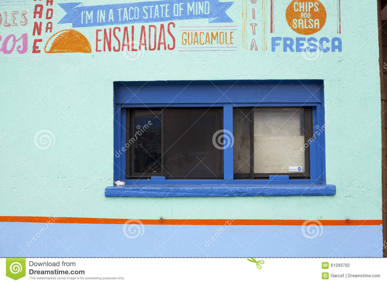 Mexican Restaurant Window Editorial Photography Image Of