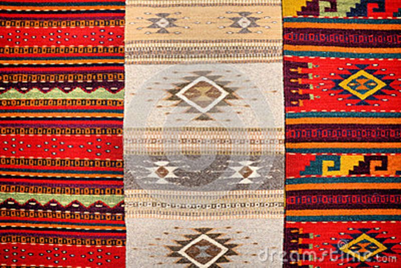 Mexican rugs stock photo  Image of handicrafts, ancient