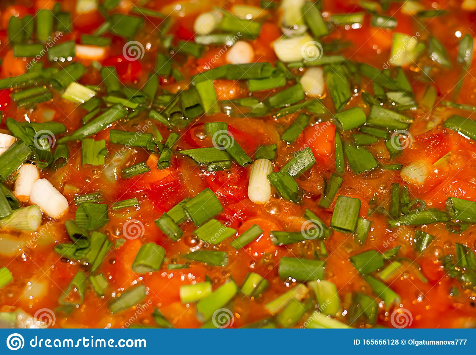 Mexican Sauce Salsa Ranchera Made With Onions Garlic Chilli Toasted Cumin Seeds Mexican Oregano Green Peppers And Tomatoes Stock Photo Image Of Chili Cuisine 165666128