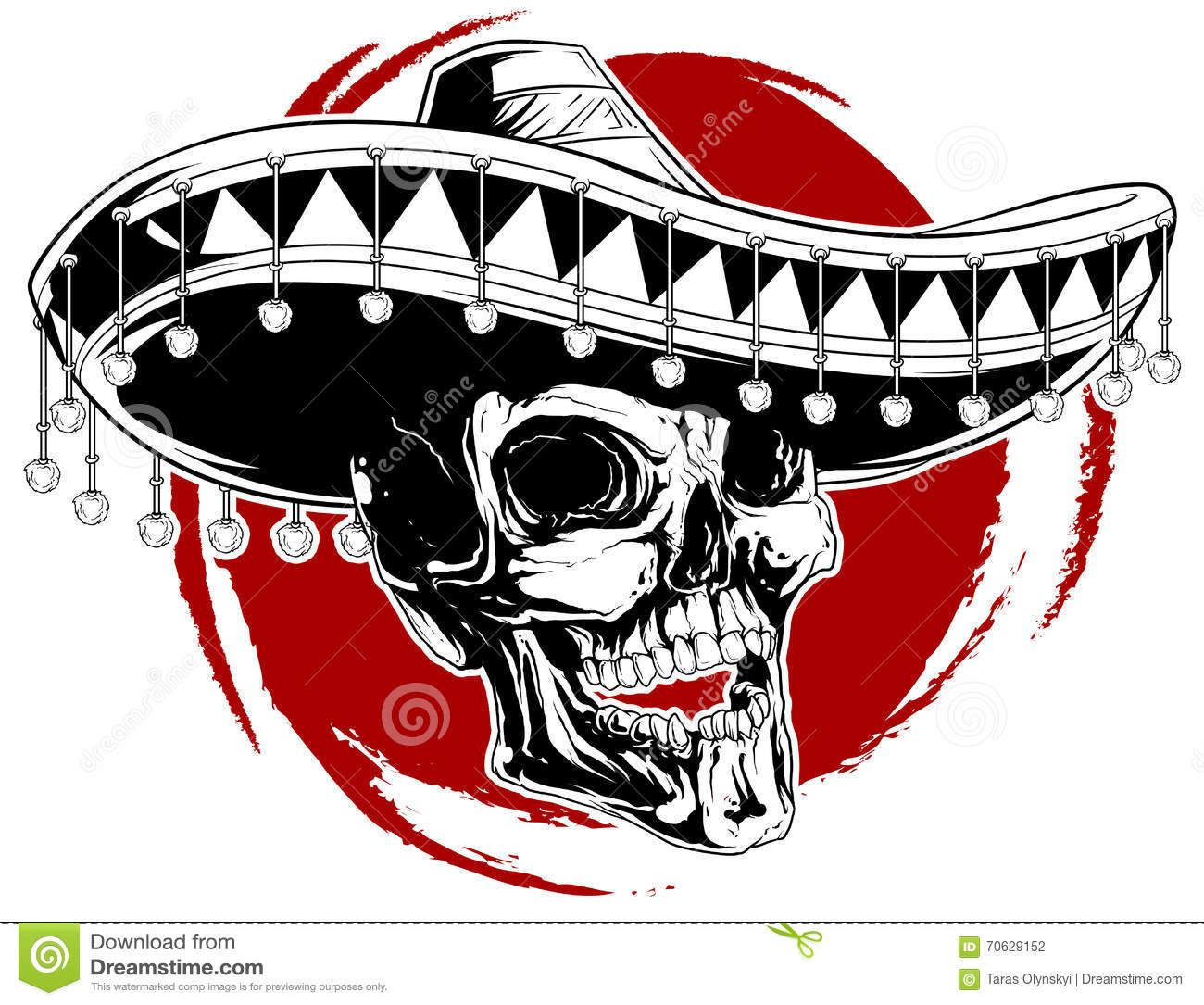 741e216aa47f1 Mexican skull tattoo stock vector. Illustration of sign - 70629152