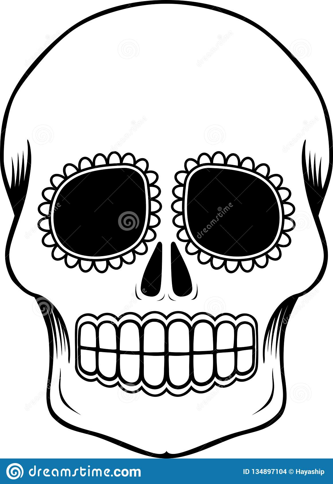 It is a photo of Day of the Dead Printable Masks with skeleton