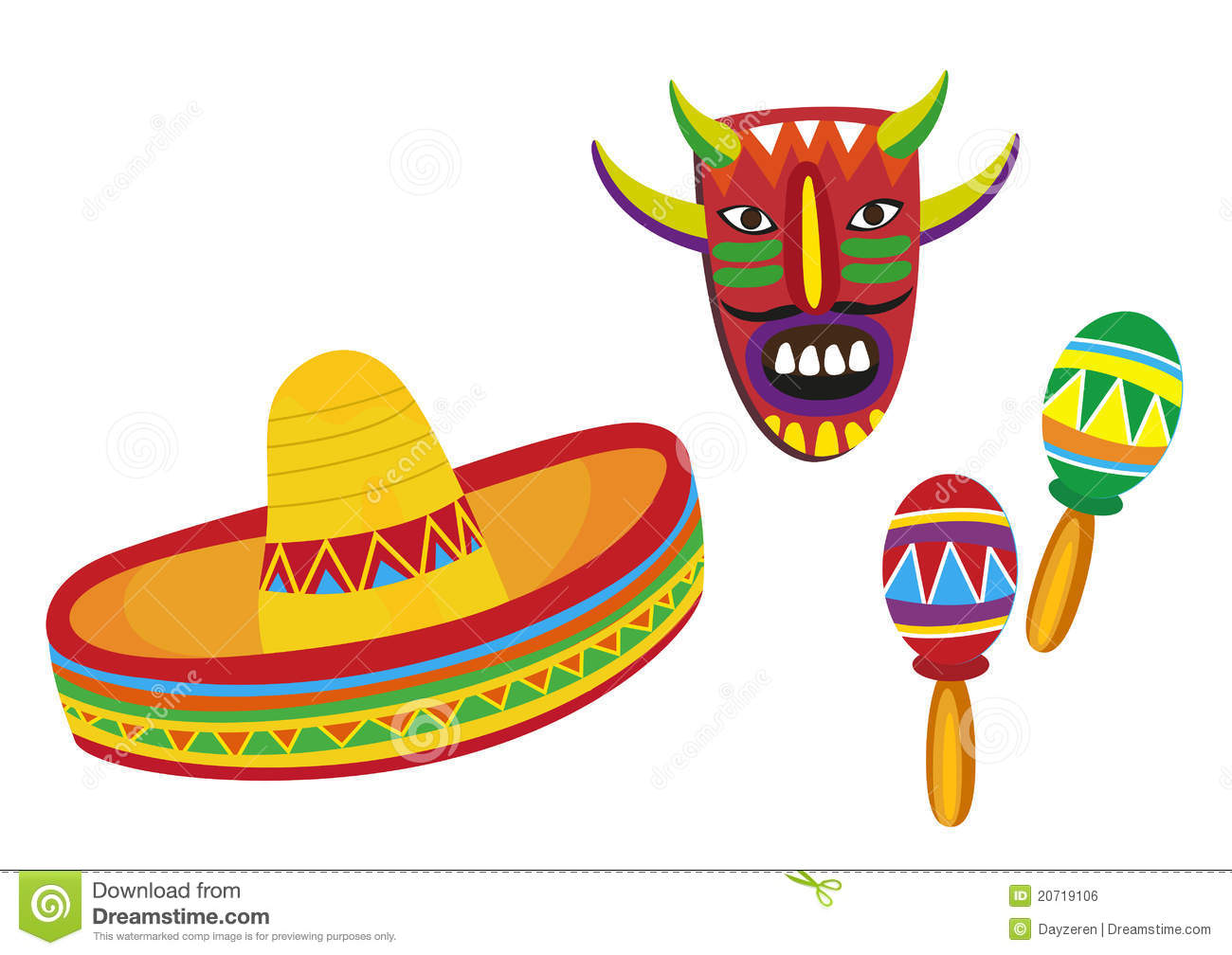 Mexican Symbols Royalty Free Stock Image Image 20719106