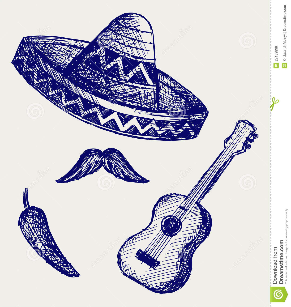 Coloring Pages of mexican symbols