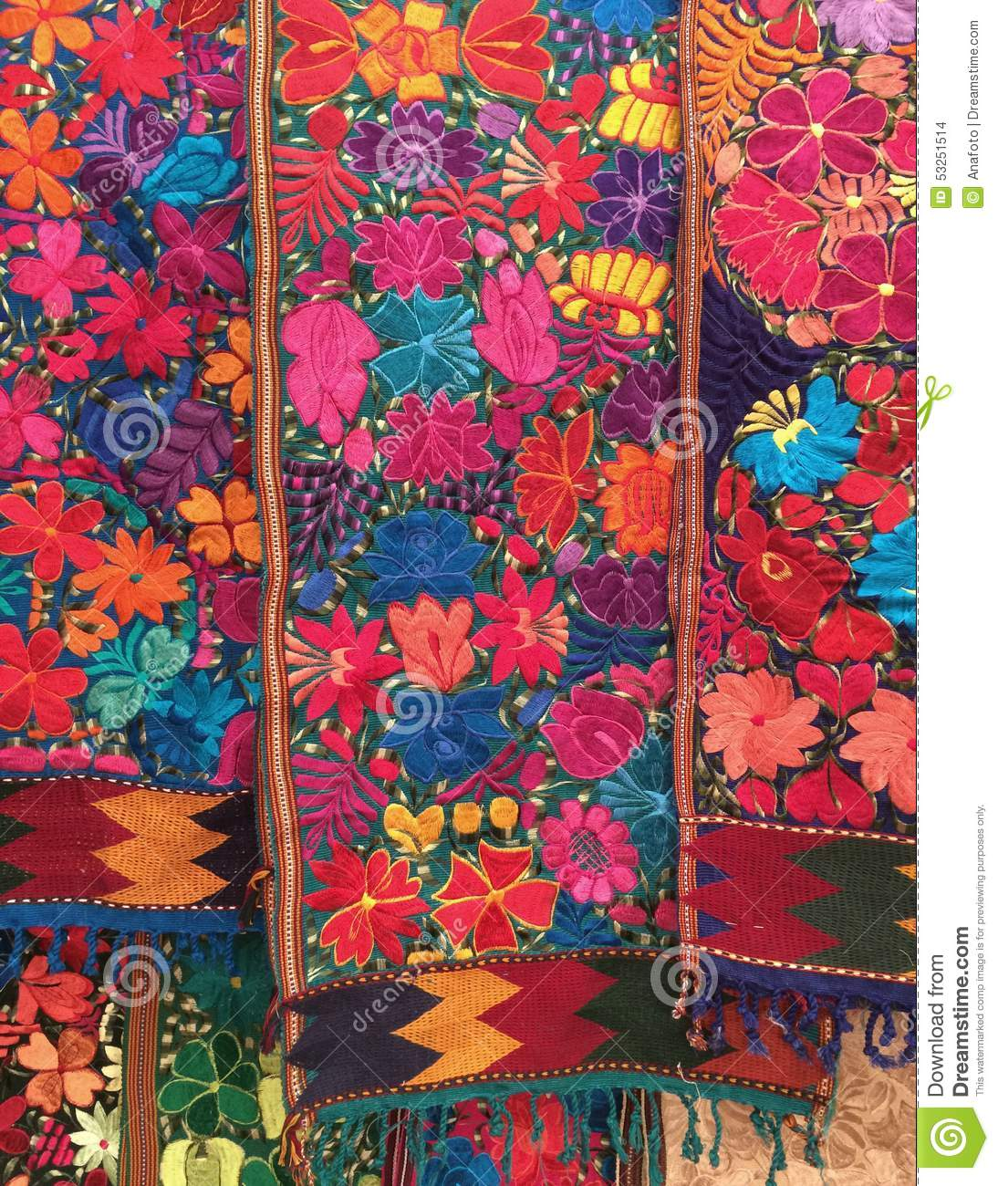 Allende Color Embroidered Floral Full Mexican Mexico Miguel Runners San  Table ...