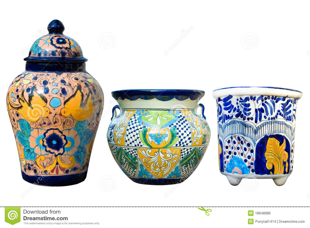 Mexican Talavera Pottery Royalty Free Stock Image Image