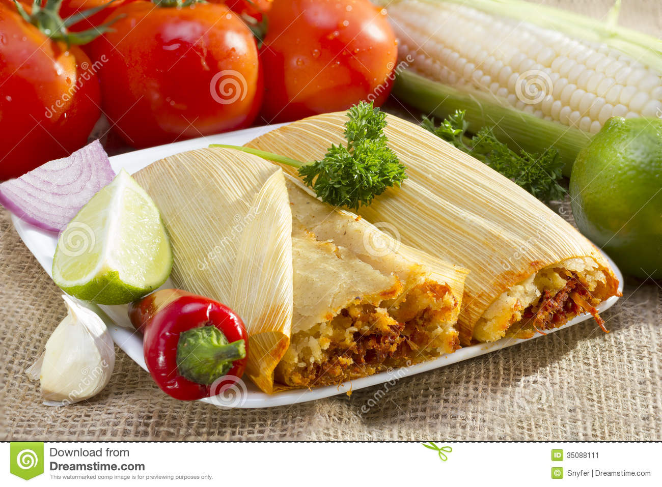 Mexican Tamales On Plate Stock Image Image Of Food 35088111