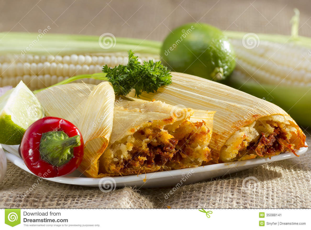 Mexican Food Wrapped In A Corn Husk