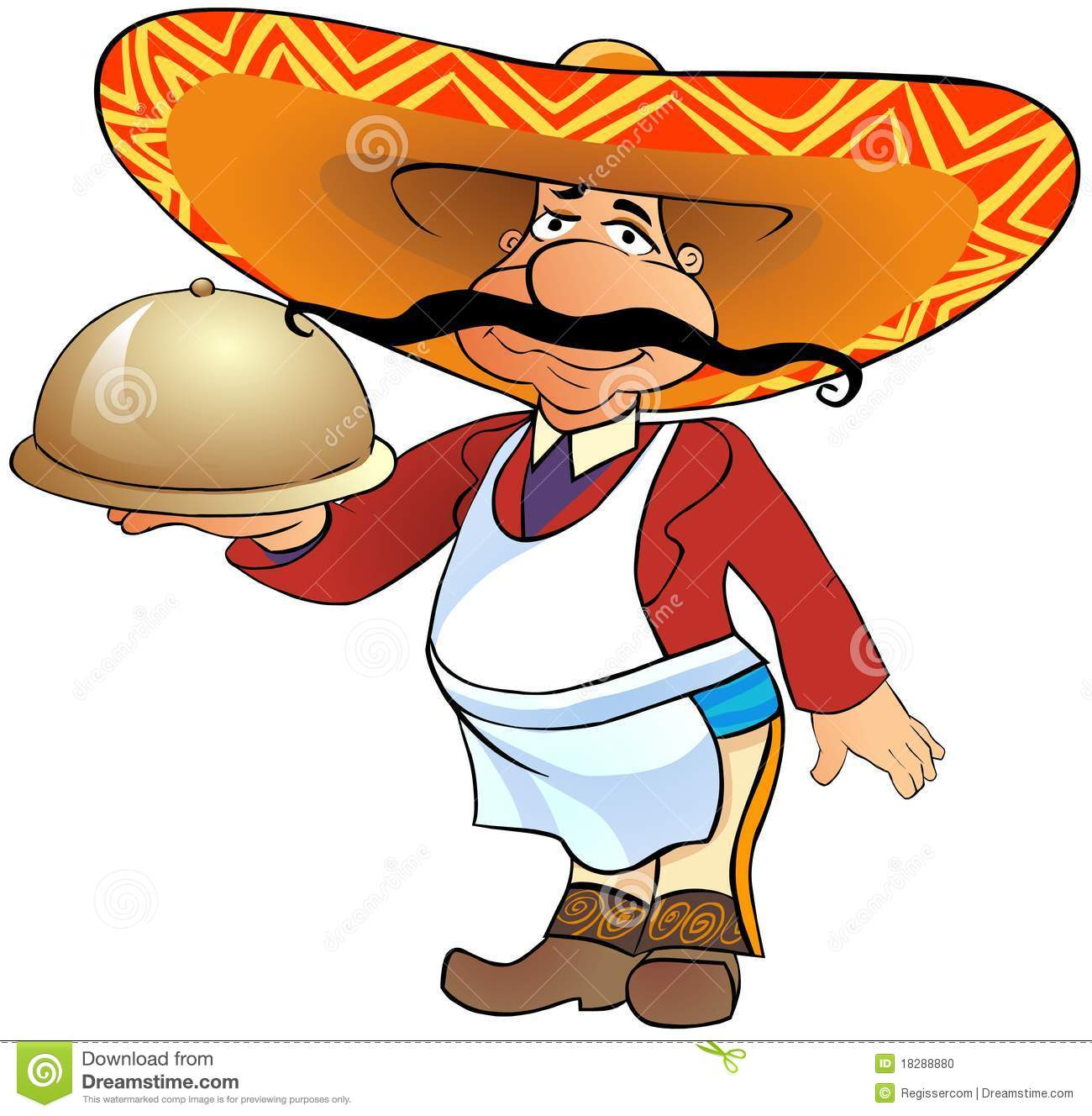 More similar stock images of ` Mexican waiter with a tray `