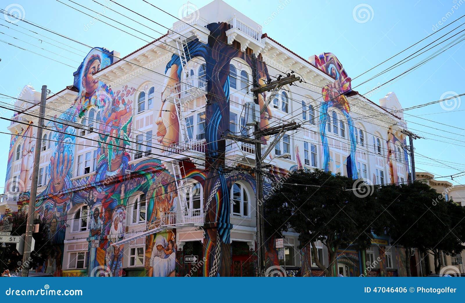 Mexican walls of house of women san francisco california for Casa de chicas