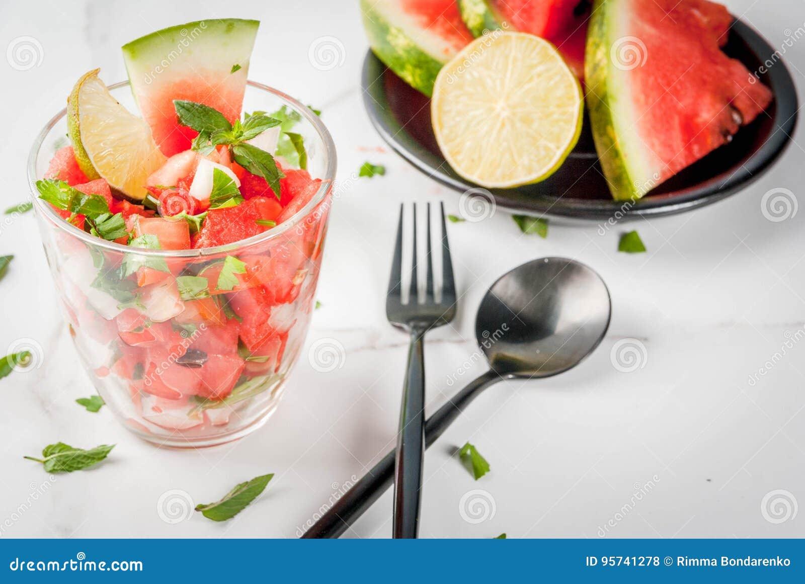 Mexican watermelon salsa