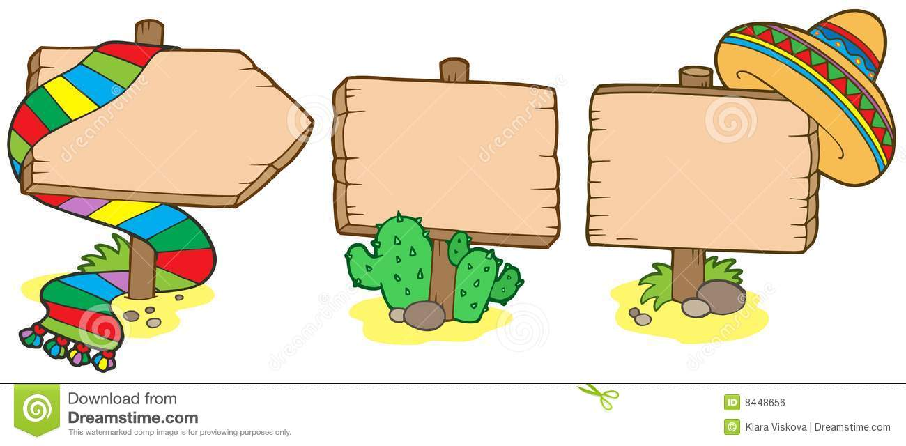 Mexican wooden signs