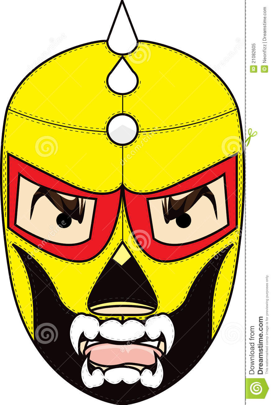 Mexican Wrestling Mask Royalty Free Stock Photo Image