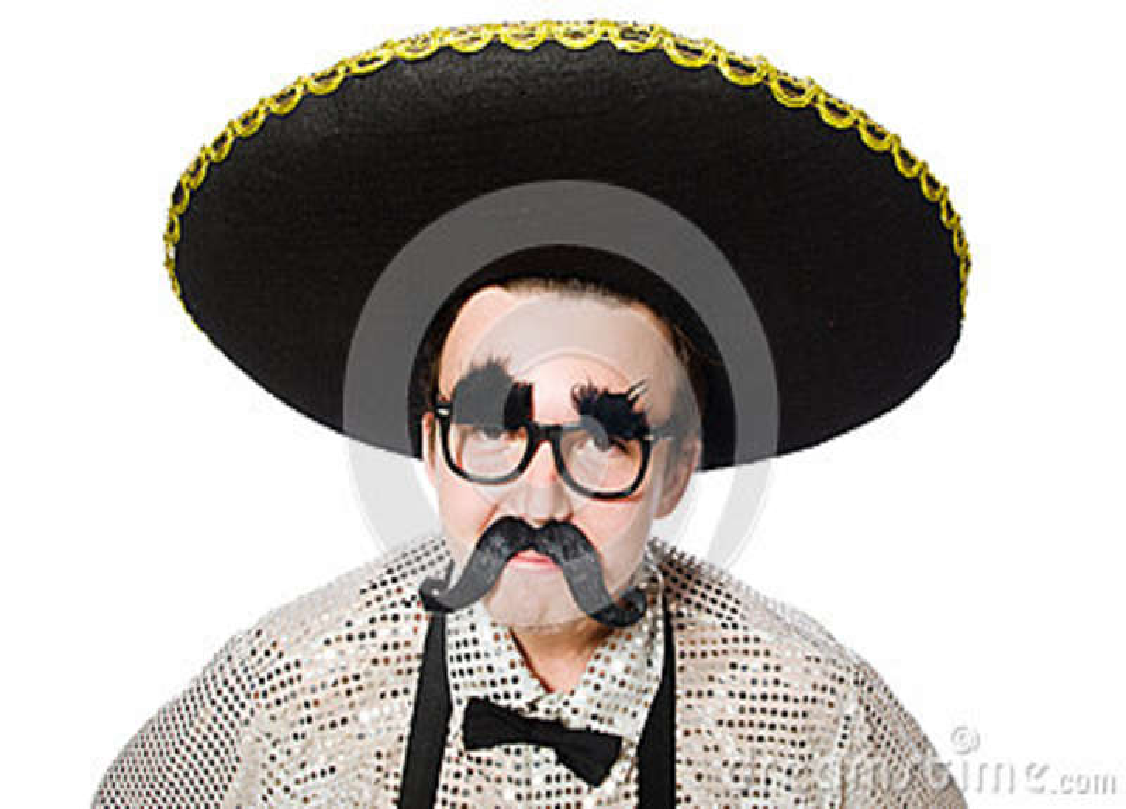 Mexicano divertido aislado