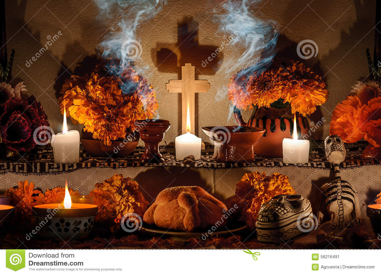 Mexicansk dag av det döda altaret (Dia de Muertos)