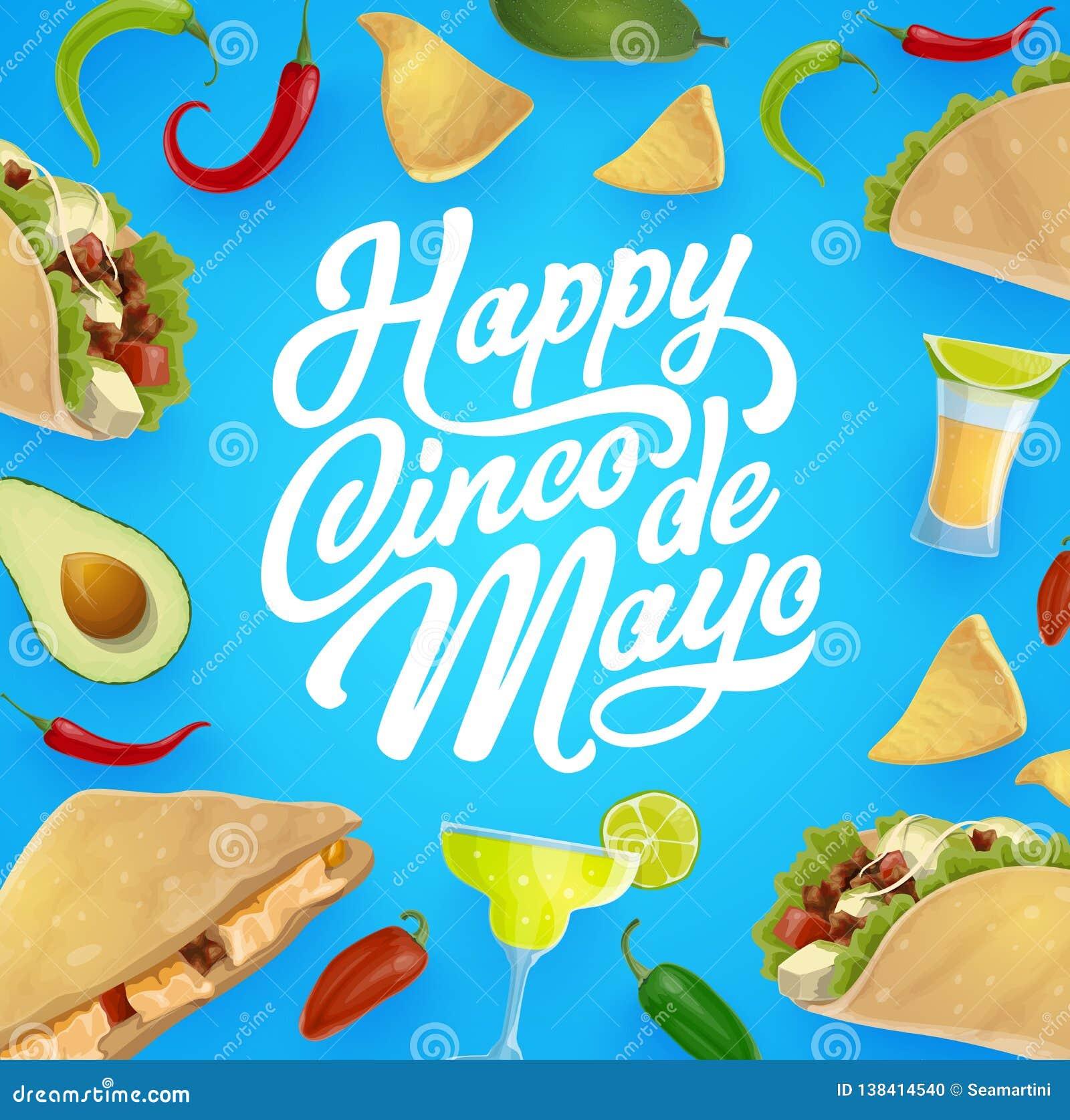 Mexicansk mat och drink Cinco de Mayo fiestaparti
