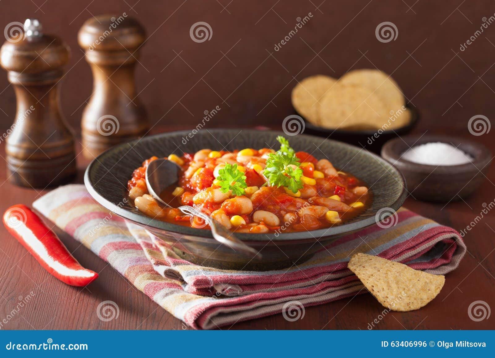Mexicansk veggiechili i platta