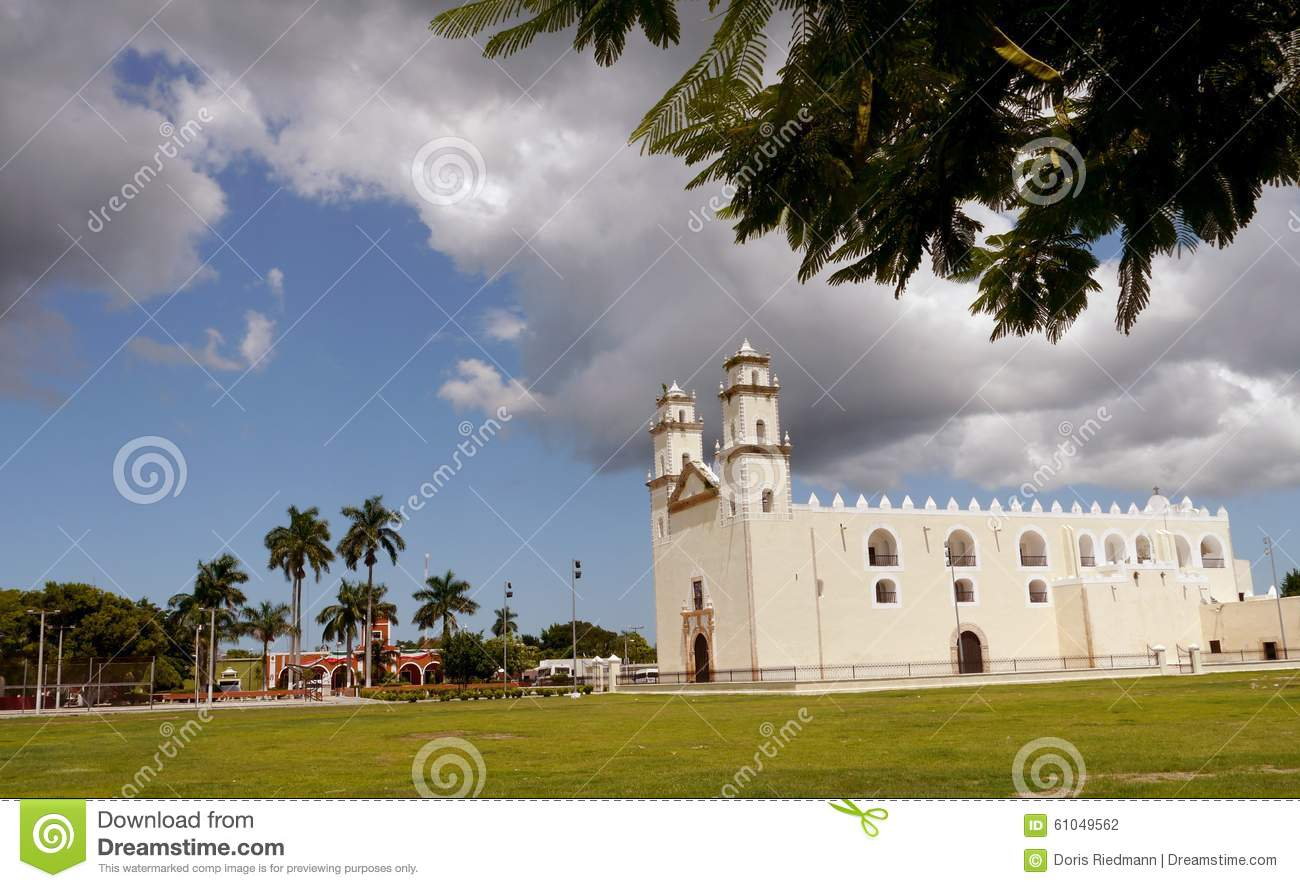 Download Mexico Church Cathedral Merida Colonial Architecture Stock Photo - Image of tower, building: 61049562