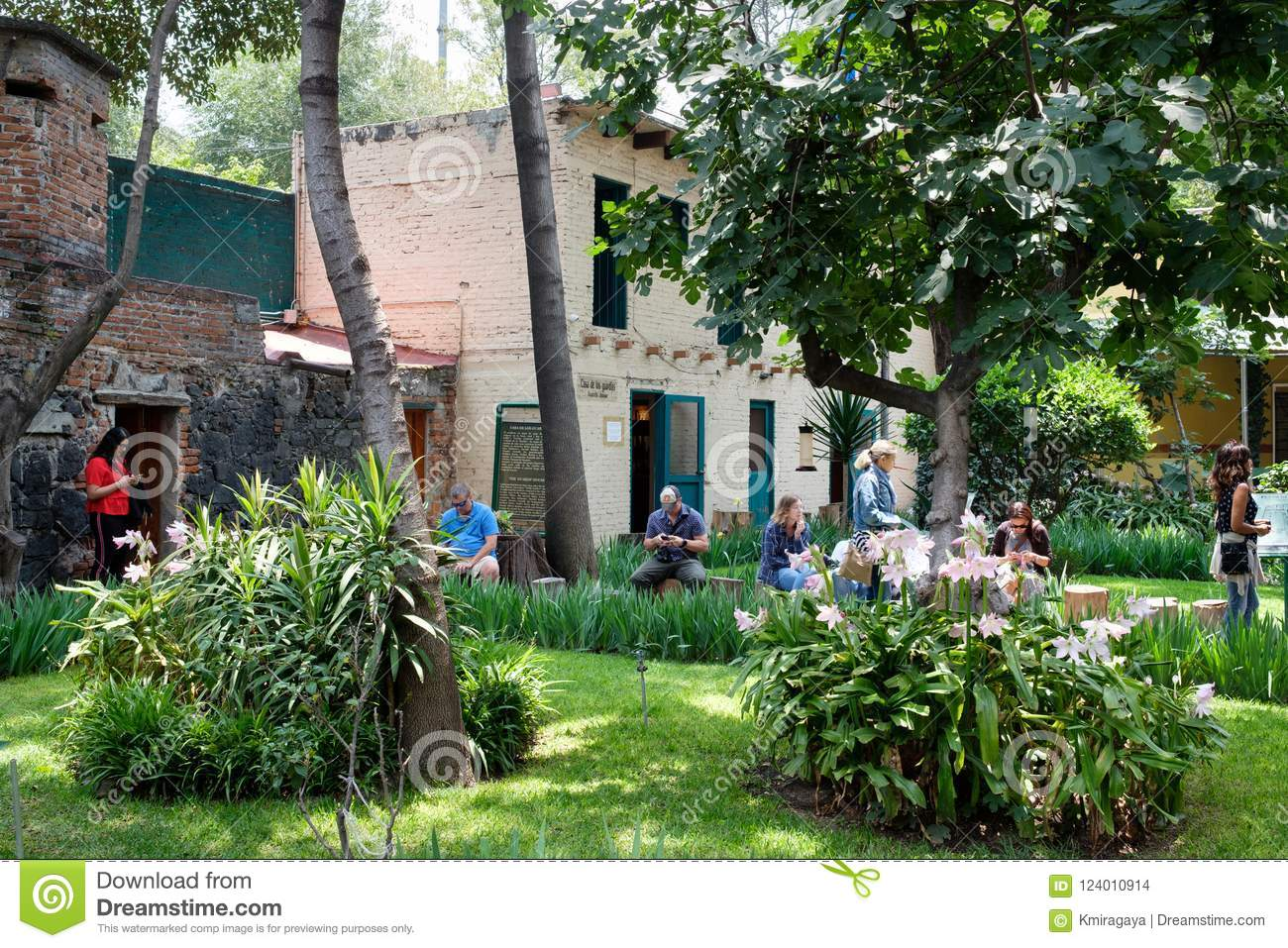 The house of the exiled soviet leader Leon Trotsky in Coyoacan,