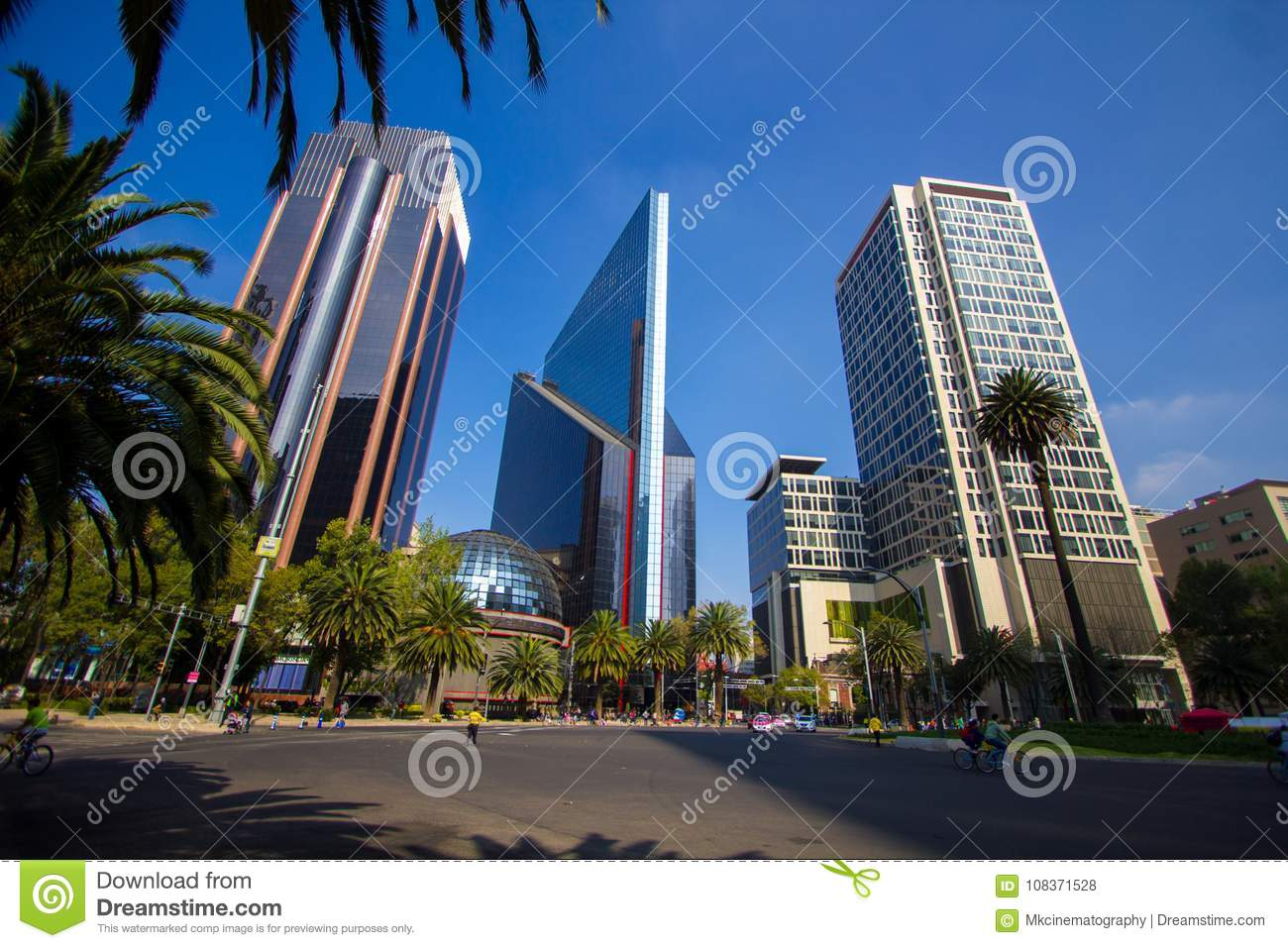 Mexico City Panorama Street Cdmx Editorial Stock Photo Image Of America Culture 108371528