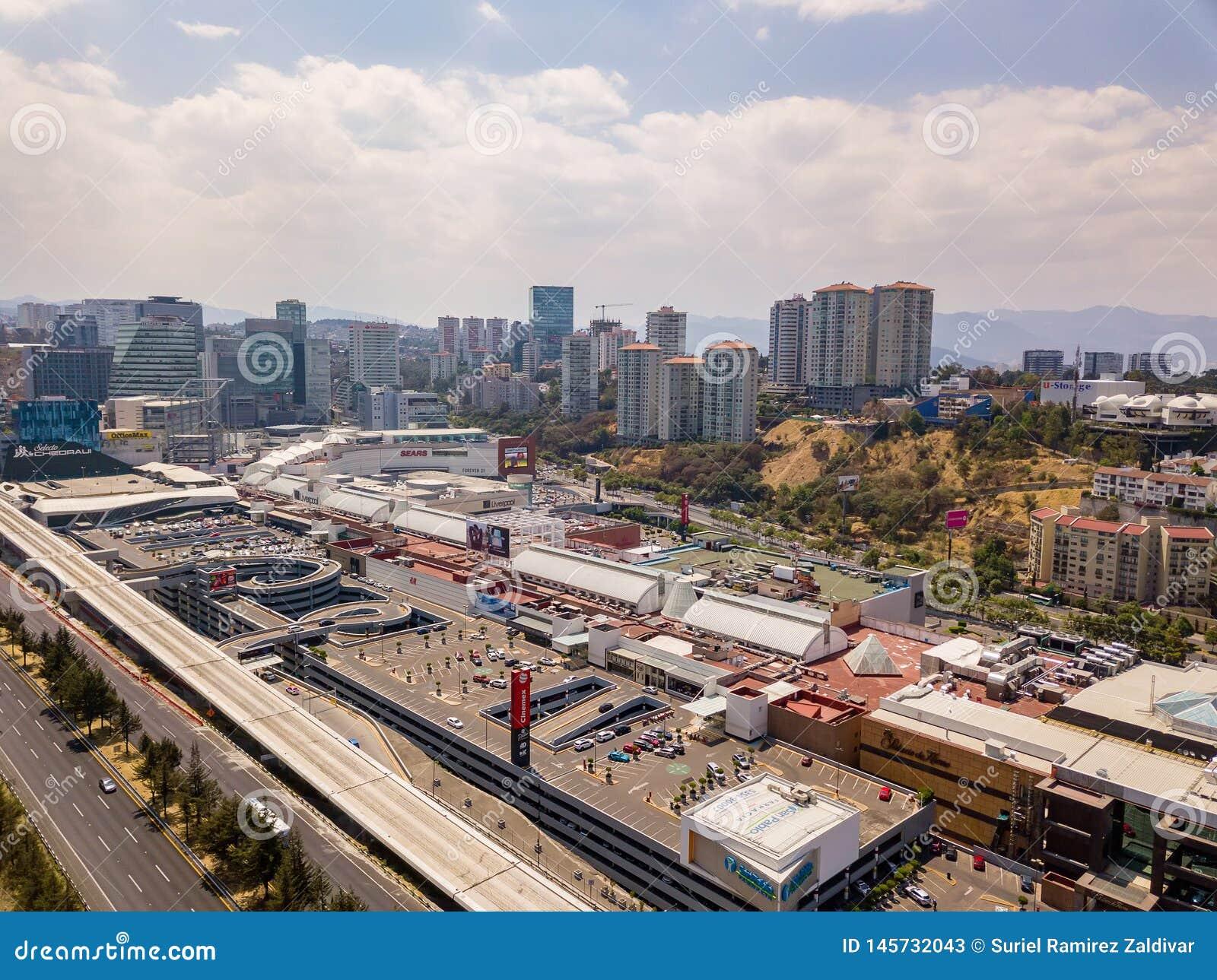 Mexico City Santa Fe Panoramic View Editorial Stock Photo Image Of Buildings Urban 145732043