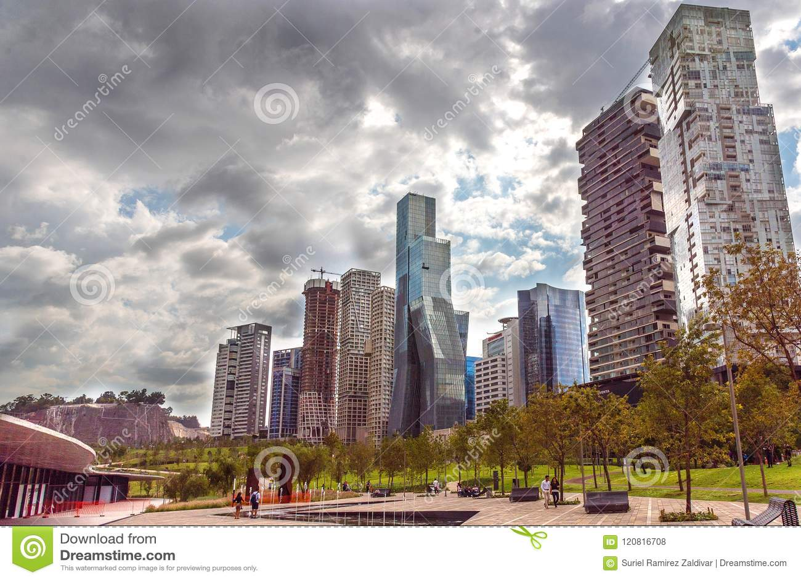 Mexico City Santa Fe Buildings Editorial Stock Photo Image Of Panoramic Modern 120816708