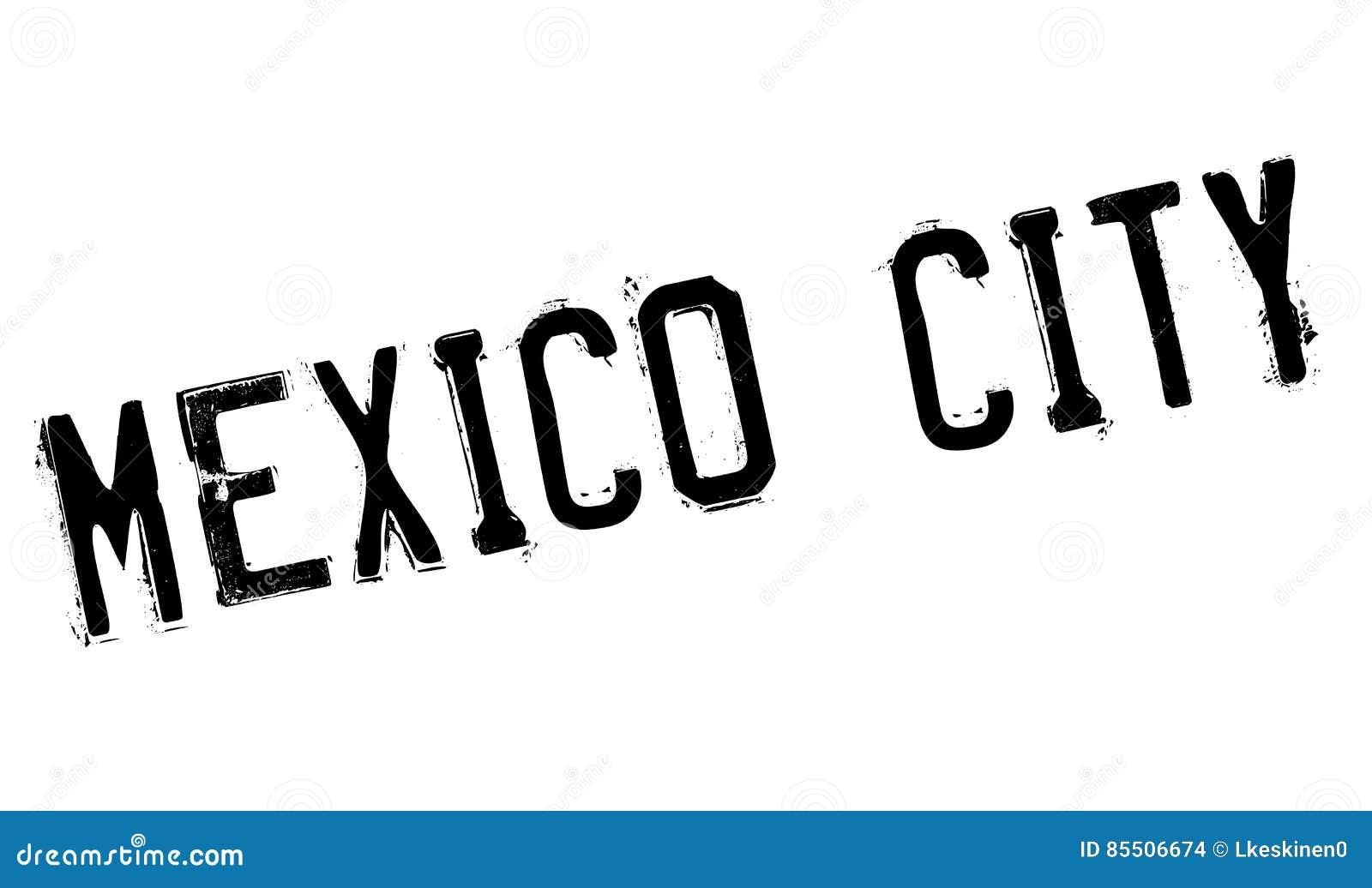 Mexico City Stamp Stock Illustration Illustration Of Travel 85506674