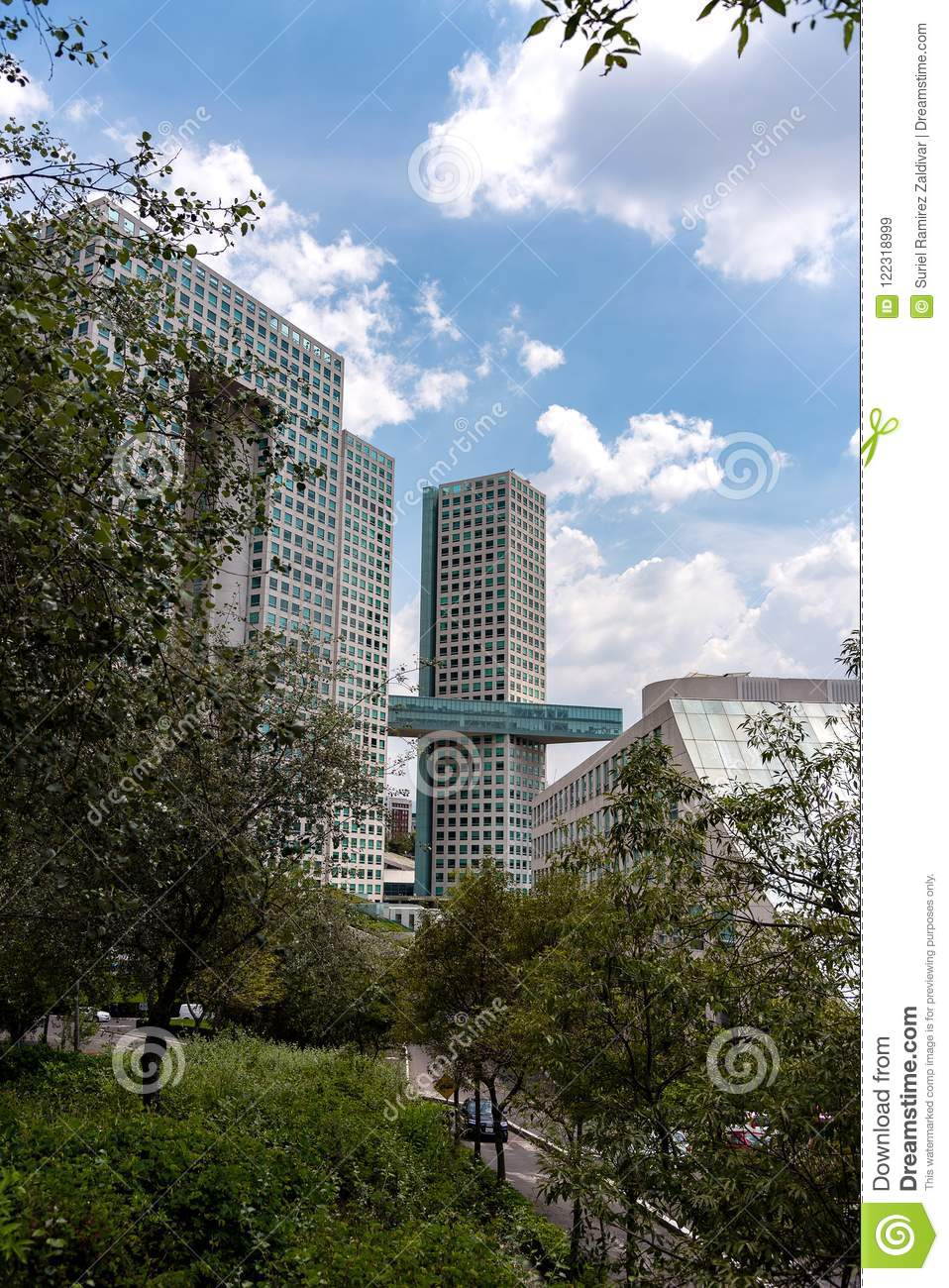 Mexico City Torre Arcos Bosques Stock Image Image Of Pantalon Lomas 122318999