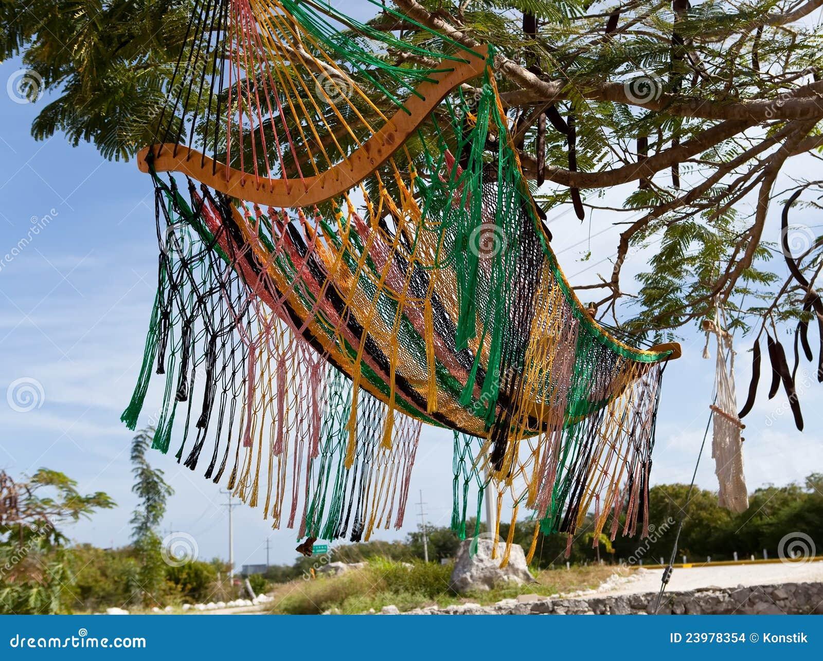 Hangmat Uit Mexico.Mexico Een Traditionele Hangmat Stock Foto Afbeelding Bestaande