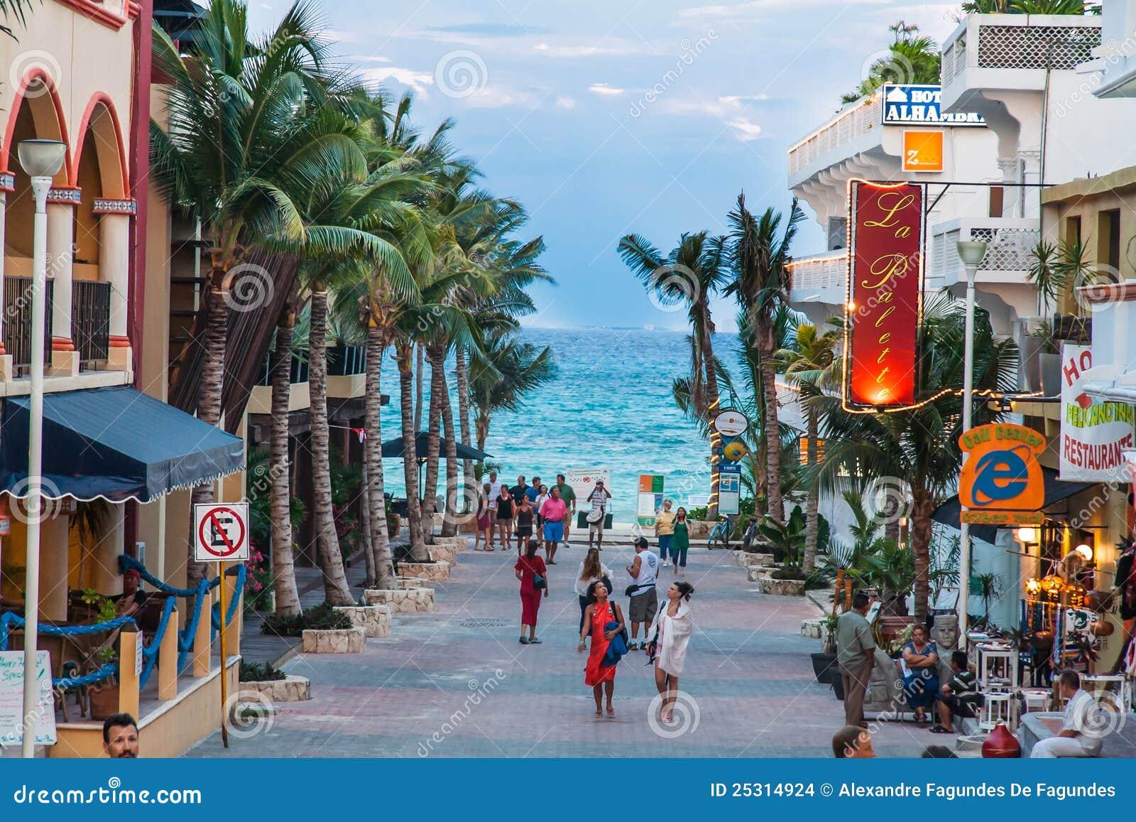 Mexico för strandcarmemdel playa yucatan