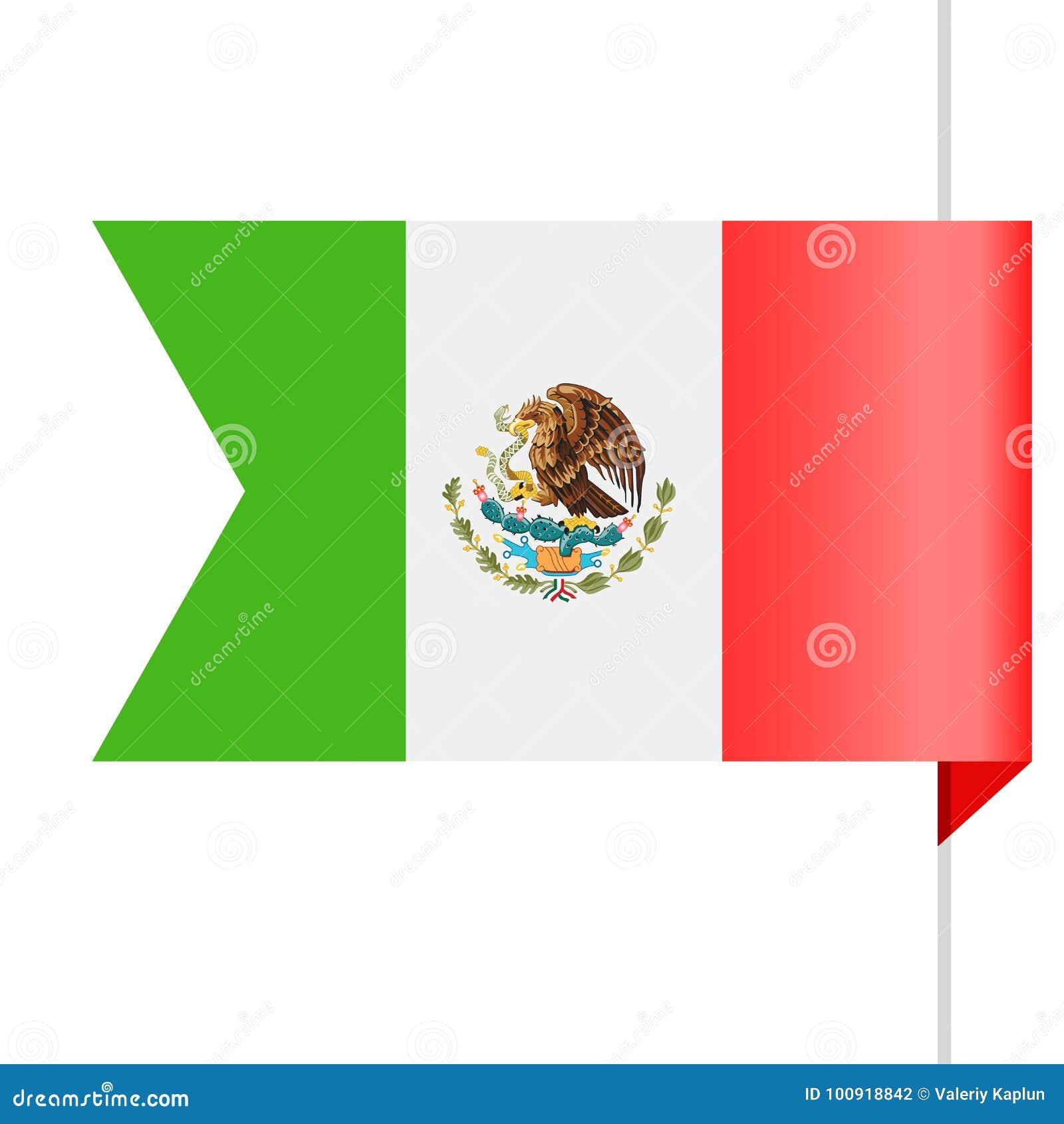 mexico flag vector bookmark icon stock illustration illustration rh dreamstime com mexican flag vector art mexico flag eagle vector