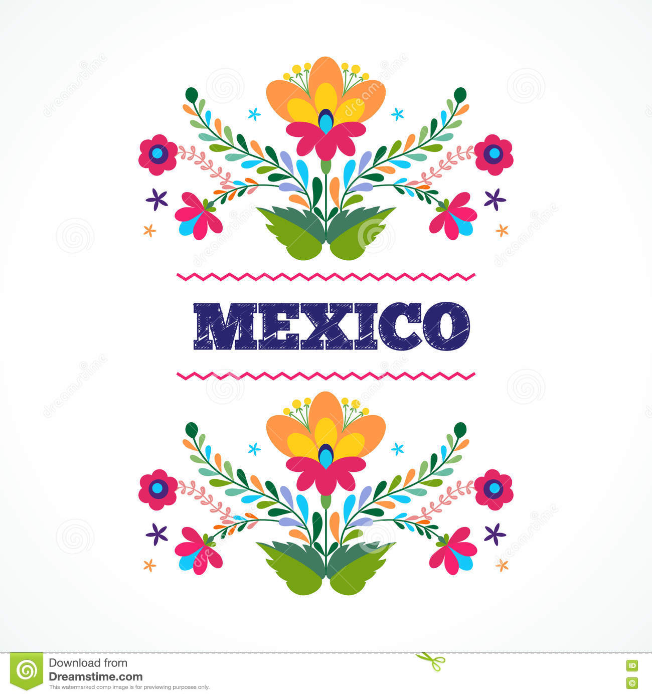 Mexico flowers ornament vector illustration stock vector download mexico flowers ornament vector illustration stock vector illustration of modern love stopboris Image collections