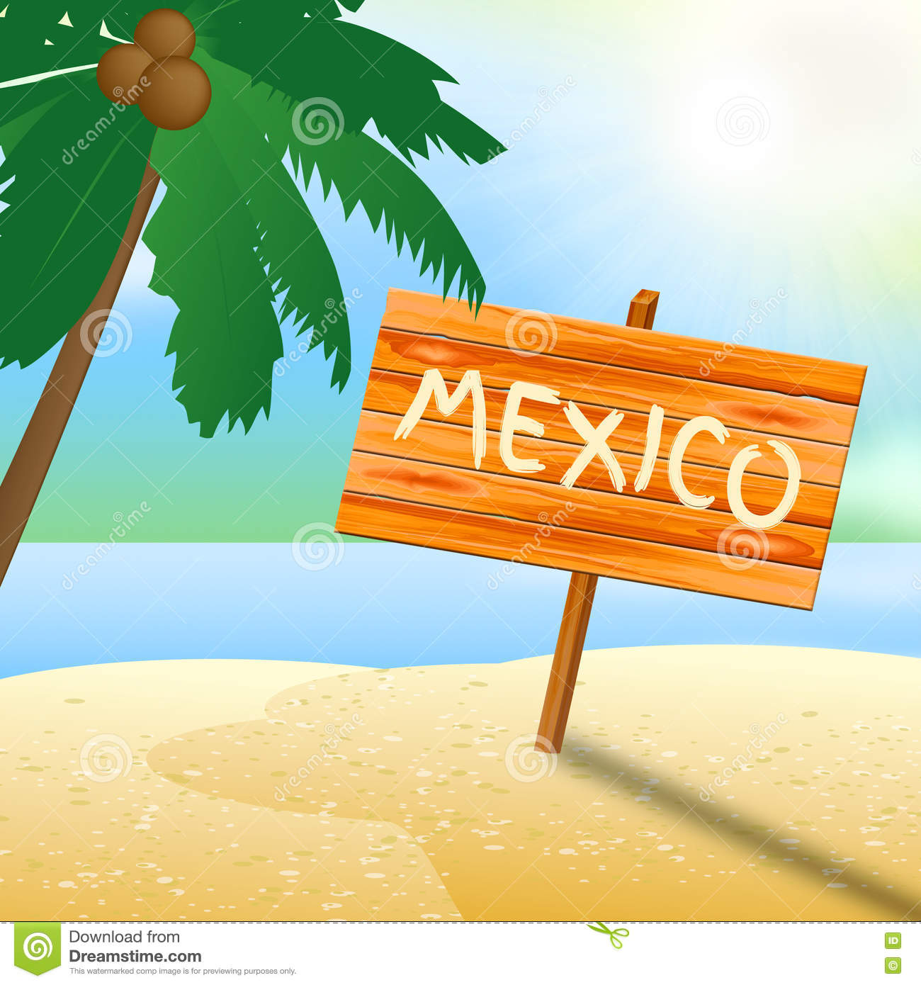 Mexico Holiday Indicates Go On Leave And Advertisement Stock Illustration Illustration Of Tropical Summer 77638834